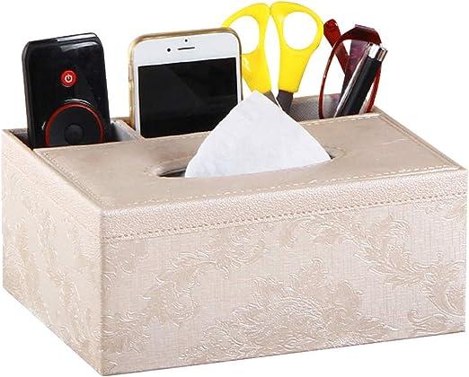 SUPVOX Cajas para Pañuelos para Pluma lápiz teléfono Portamandos Soporte de Mando a Distancia Organizador de Escritorio: Amazon.es: Hogar