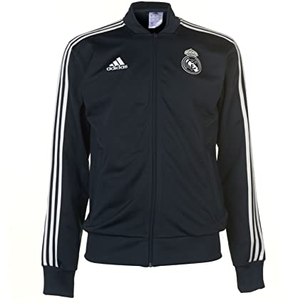 6b7b18a8e Image Unavailable. Image not available for. Color  adidas 2018-2019 Real  Madrid Knitted Presentation Jacket (Dark Grey)