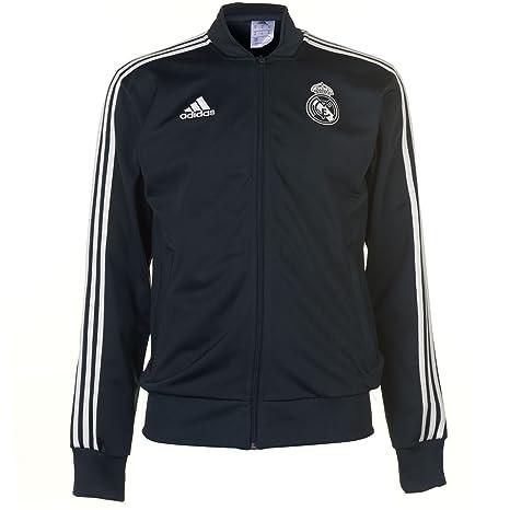 adidas - Chaqueta de chándal de poliéster del Real Madrid, otoño/Invierno, Hombre, Color: Amazon.es: Deportes y aire libre