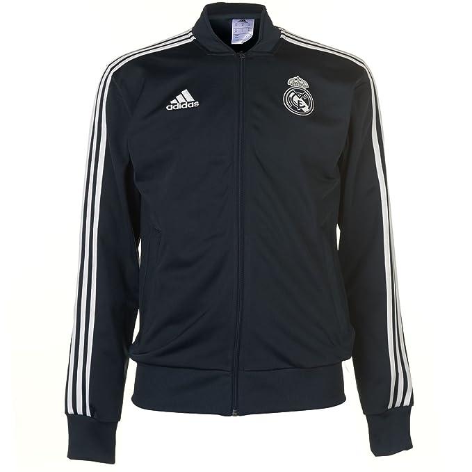 adidas Real Madrid Polyester Jacket Chaqueta, Hombre: Amazon.es: Deportes y aire libre