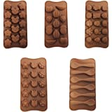 Set de 6 Bandejas con Moldes de Silicona para Dulces de Chocolate de CurtzyTM