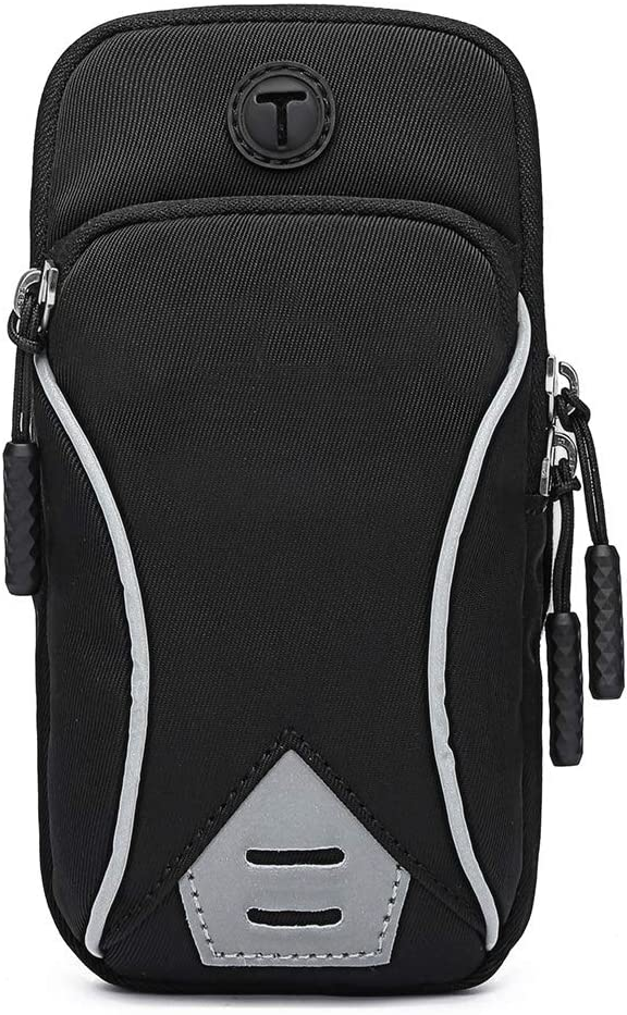 Running Armband Phone Holder Bag, GORWRICH Sweatproof Running Phone Armband Sports Armband with Key Holder and Extension Strap, Suitable for iPhone 11 11 Pro XS XR X 8 7 6s 6 Up to 6 Inches