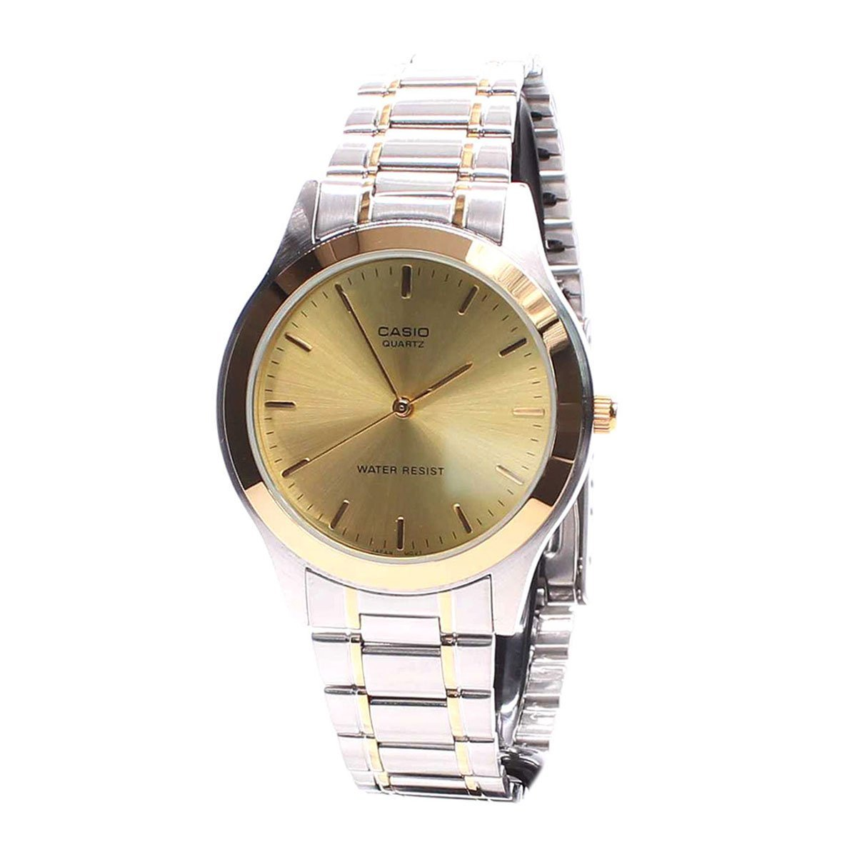 Casio Men s Core MTP1128G-9A Two-Tone Stainless-Steel Quartz Watch with Gold Dial