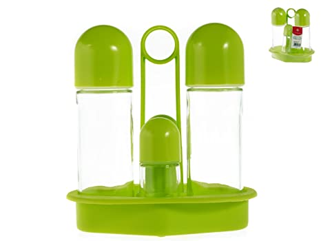 HOME 5461314 Oliera 4 Pezzi Polipropilene Verde Mela Utensili da Cucina,  Plastica, Trasparente