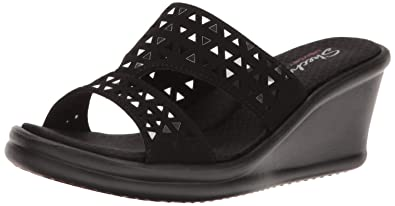 7e97b1689a89 Skechers Cali Women s Rumblers Urban Static Wedge Sandal