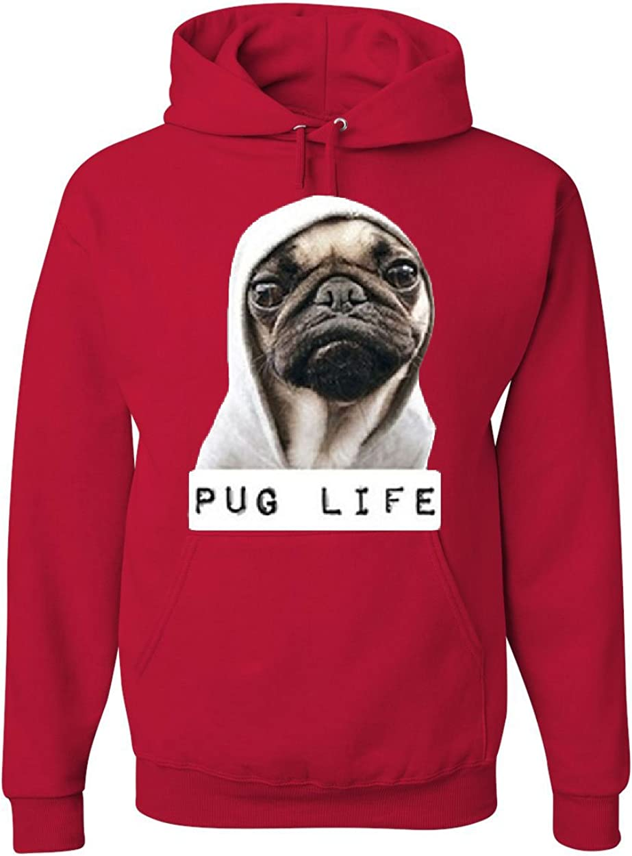 Pug Life Funny Hoodie Dope Thug Life Dog Parody Hipster Sweatshirt