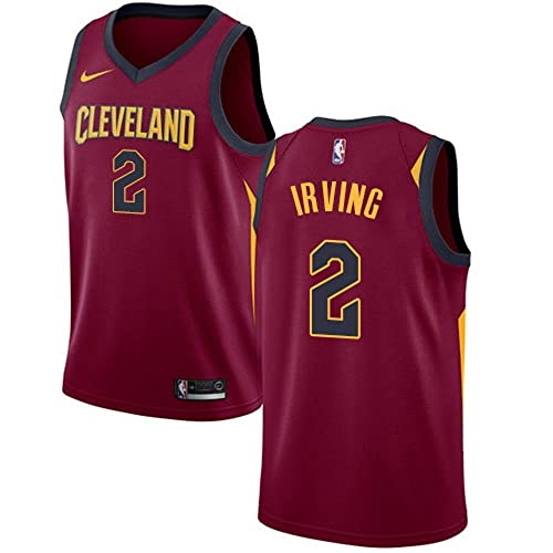 new product 819db 9d078 Details about Kyrie Irving Cleveland Cavaliers Nike Youth Medium 10 12 Red  Jersey Dri Fit  70