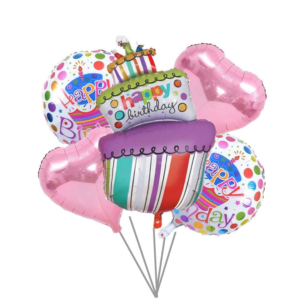 TOYXE Happy Birthday Cake Set Toy Balloon