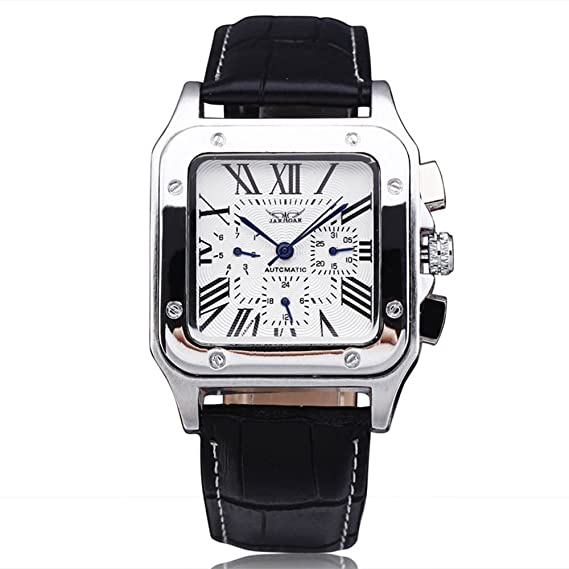 Yisuya Hombre Fecha Semana Impermeable Automático Mecánico Relojes