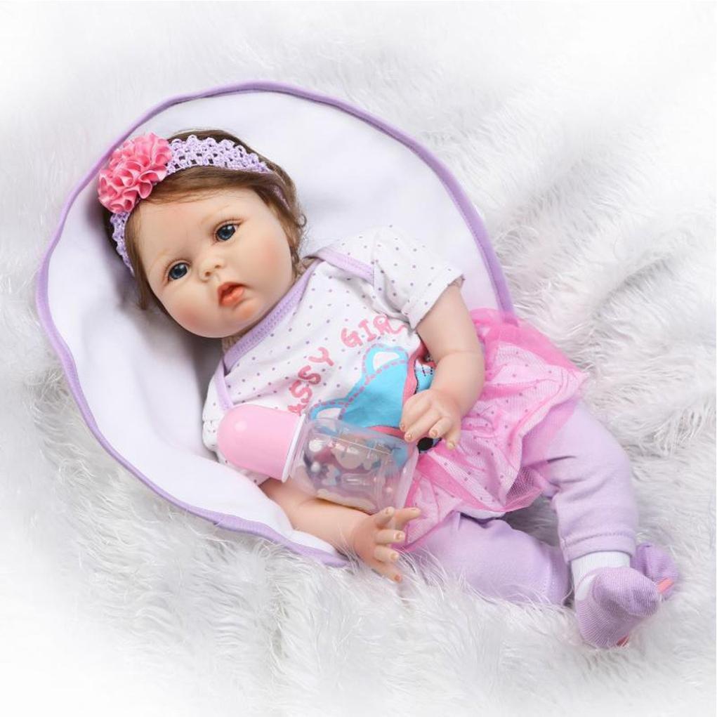 dirance Lifelike Reborn人形ソフトシリコンフルボディリアルなGirl Playmate人形ビニールreallikeハンドメイド新生児赤ちゃん人形with Clothes 55 cm、子供ギフトfor Ages 3 + F DR  マルチカラー B07DJD99Q7