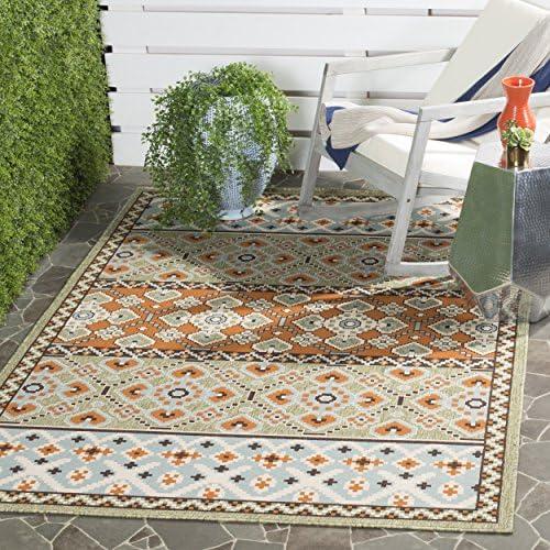 Safavieh Veranda Collection VER093-0742 Indoor Outdoor Green and Terracotta Contemporary Area Rug 8 x 11 2