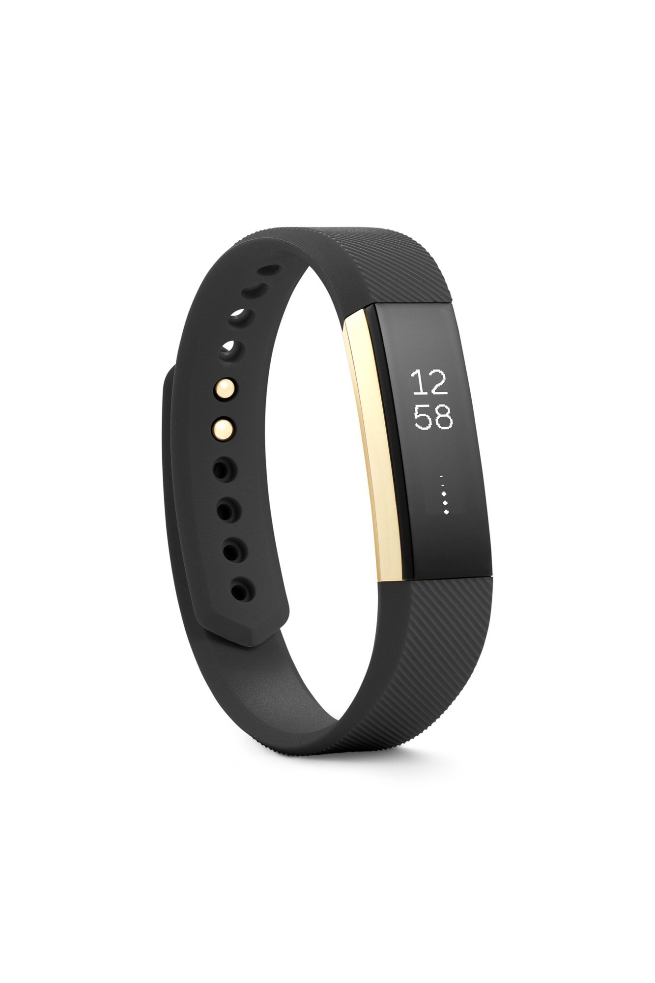 Fitbit Alta Fitness Tracker, Special Edition Gold, Black, Small (US Version) by Fitbit (Image #1)