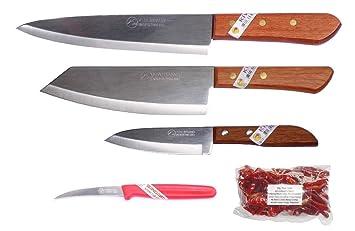 Kiwi Kochmesser mit Edelstahl 28cm Für Fleisch Fisch Gemüse Thailand Kiwi No 171