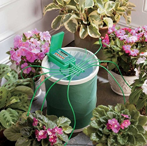 System Spill (Automatic Plant Drip Watering System with Coil Spill Free Bucket 10 Plants)