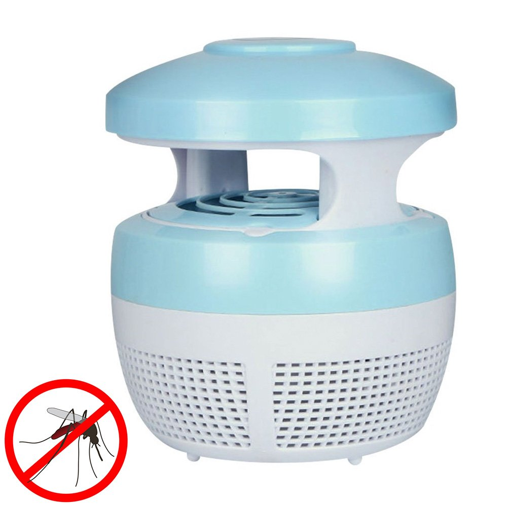 KingNew Mosquito Killer USB LED Lampe AntiMos Kito Electric Uvlicht Zappers Fly/Insect Killer LED Lamp USB Charger (Blue) [Energy Class A]
