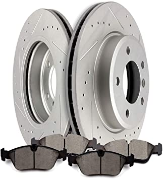 Front+Rear Brake Rotors /& Ceramic Pads For BMW 323I 325I 325Ci 328I 328Ci 328Is