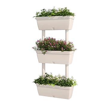 Bigdug 3 Tier Plant Flower Plant Pot Stand Outdoor Indoor Gardening