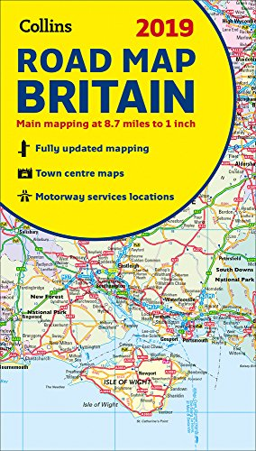 2019 Collins Road Map Britain (England Map)