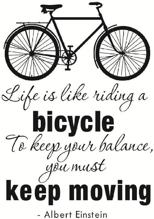 KAMAUAY La Vida Es como Andar En Bicicleta Pegatina De Pared En ...