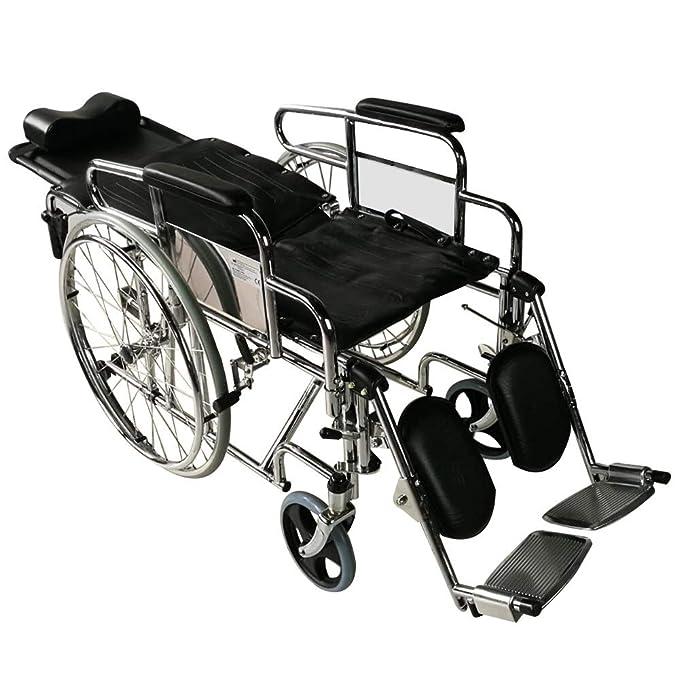 Silla de ruedas plegable | elevador de piernas y reposacabeza | ancho asiento 45 cm | Obelisco | Mobiclinic: Amazon.es: Salud y cuidado personal