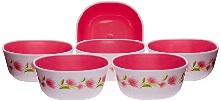 Nayasa Deluxe Microwave Square Bowl Set, Set of 6