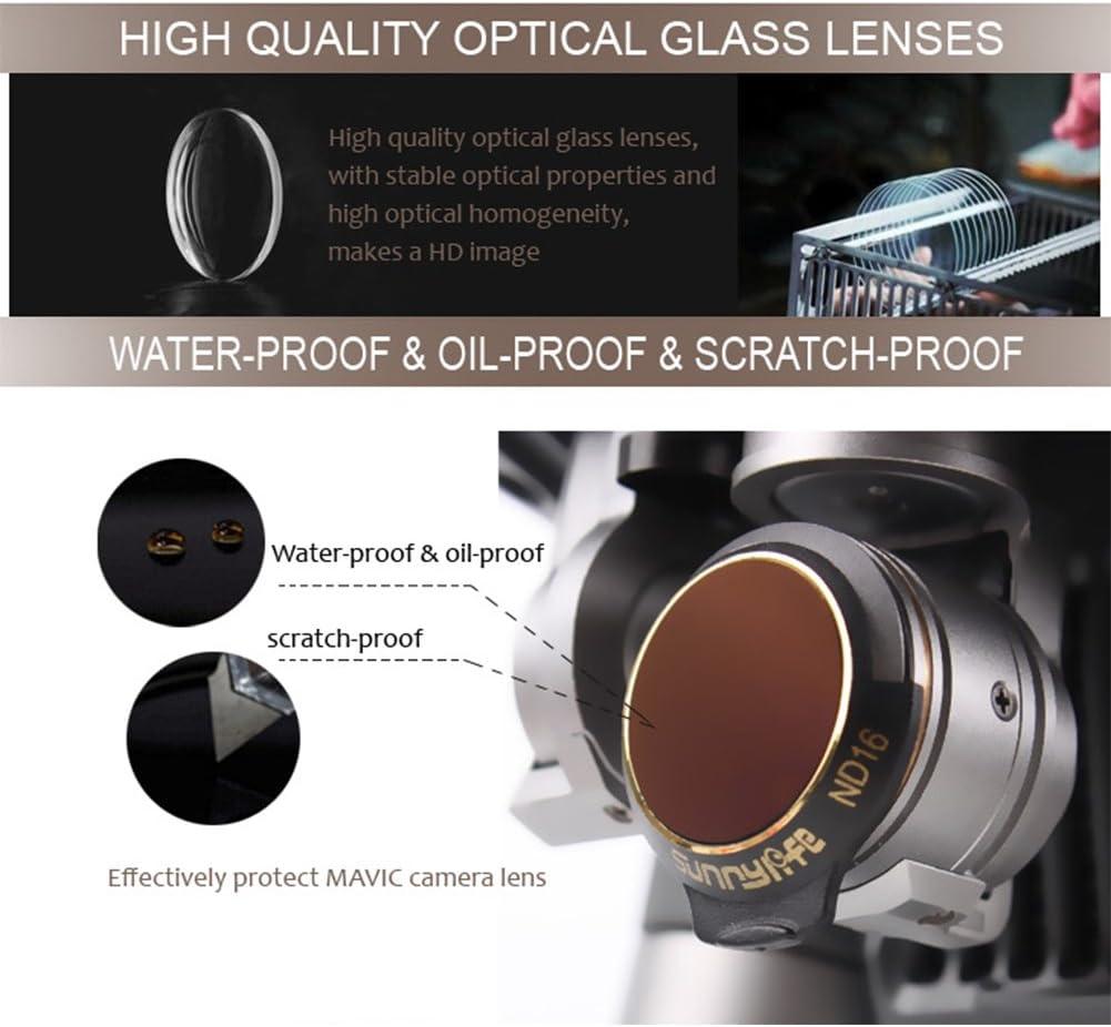 RONSHIN Sunnylife Lens Filter Kit MCUV CPL ND4 ND8 ND16 ND32 for DJI Mavic PRO Platinum /& White Lens//Camera Filter 6pcs//Set of Filters