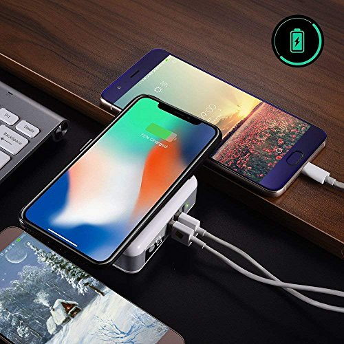 Wireless Portable Charger,Wireless Charger Power Bank 6700mAh USB & USB Type C Support LED QI Battery Charger Pad External Battery Pack for iPhone 8/8 Plus,Samaung S7 S8 S9,Note 7 8,iPhone X by LFXD (Image #6)