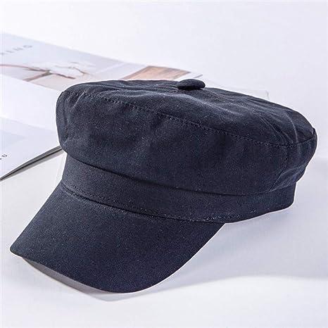 HSLPLX Gorras de Vendedor de periódicos de algodón de Moda botón ...