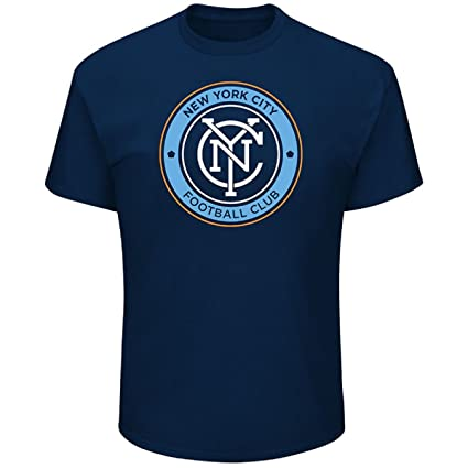 sneakers for cheap a9c4f 92200 Majestic New York City Football Club Blue Logo T-Shirt NYC FC (S)