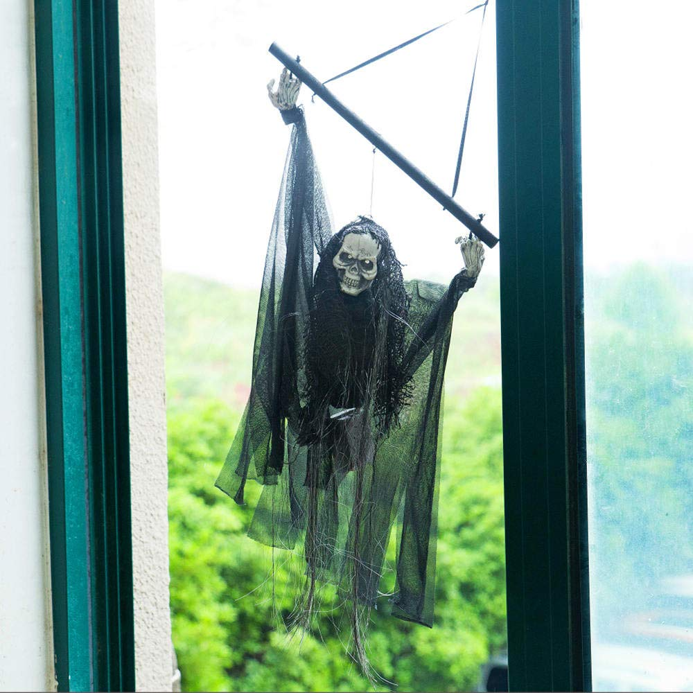 Halloween Decorations Black Electric Control Hanging Hanging Horror Prop by Matchia