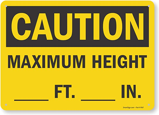 OSHA Danger Sign Low ClearanceHeavy Duty Sign or Label