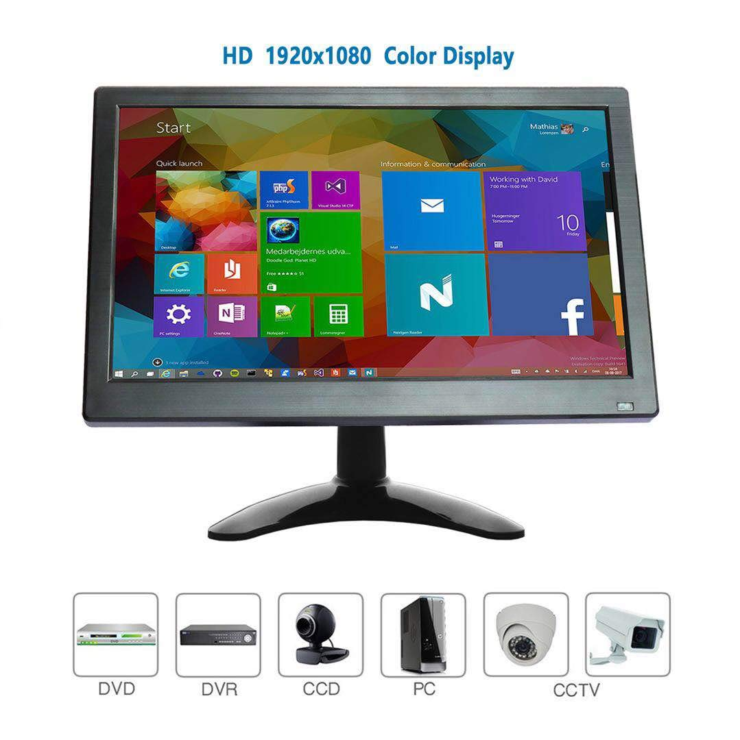 Monitor 10, 1 pollici Schermo HDMI LCD Full HD IPS colori 1280x800 Con AV/VGA / HDMI/BNC / AUX/Porte audio Altoparlante integrato per monitor di sicurezza domestica Schermo PC Raspberry Pi WHOLEV