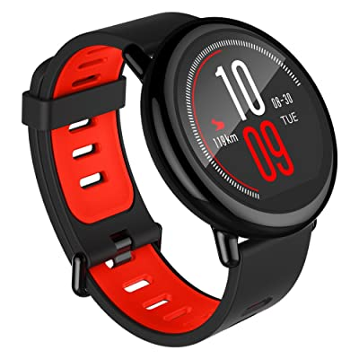 amazfit pace gps running smartwatch black band 5 days battery life