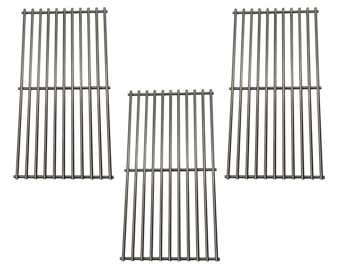 Cookingstar 3pack Solid Stainless Steel Cooking Grid, Replacement Parts Kits for Master Chef 85-3100-2, Charbroil 463420507, 463436413, 463440109, Kenmore 463420507, 461442513