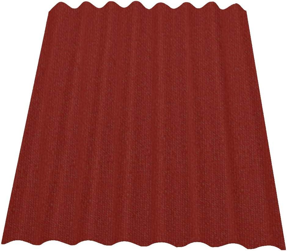 Onduline Easyline - Placa de techo trapezoidal para pared, 1 x 0,76 m, color rojo