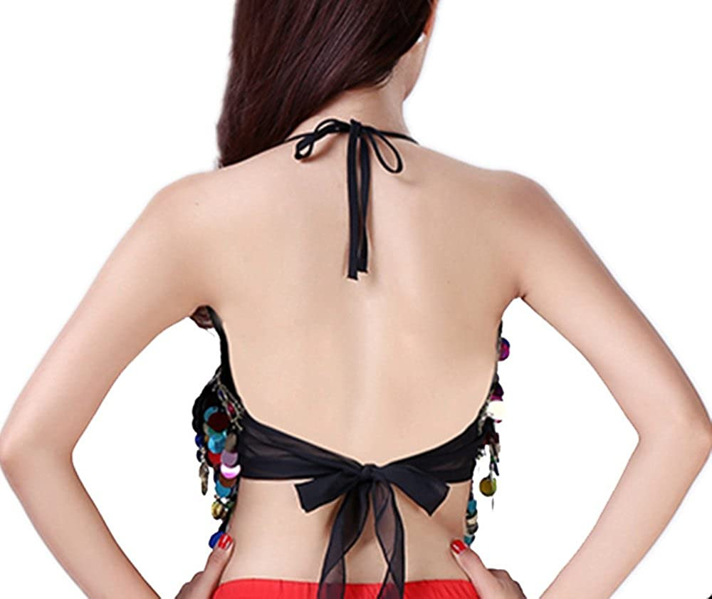 1e0b30dcc5794c Coco Said Rainbow Sequin Tassel Mermaid Mirror Festival Body Harness Bra  Bralette Crop  Amazon.co.uk  Clothing