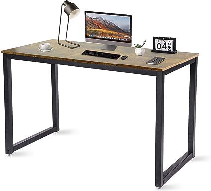Tavolo per Computer Grande Struttura in Acciaio con Supporto per Computer Scrittorio per Studio Portatile Postazione di Lavoro per Ufficio in Casa Nisear Scrivania per Computer
