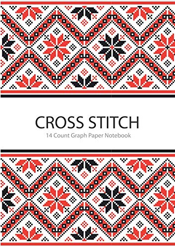 Cross Stitch 14 Count Graph Paper Notebook: