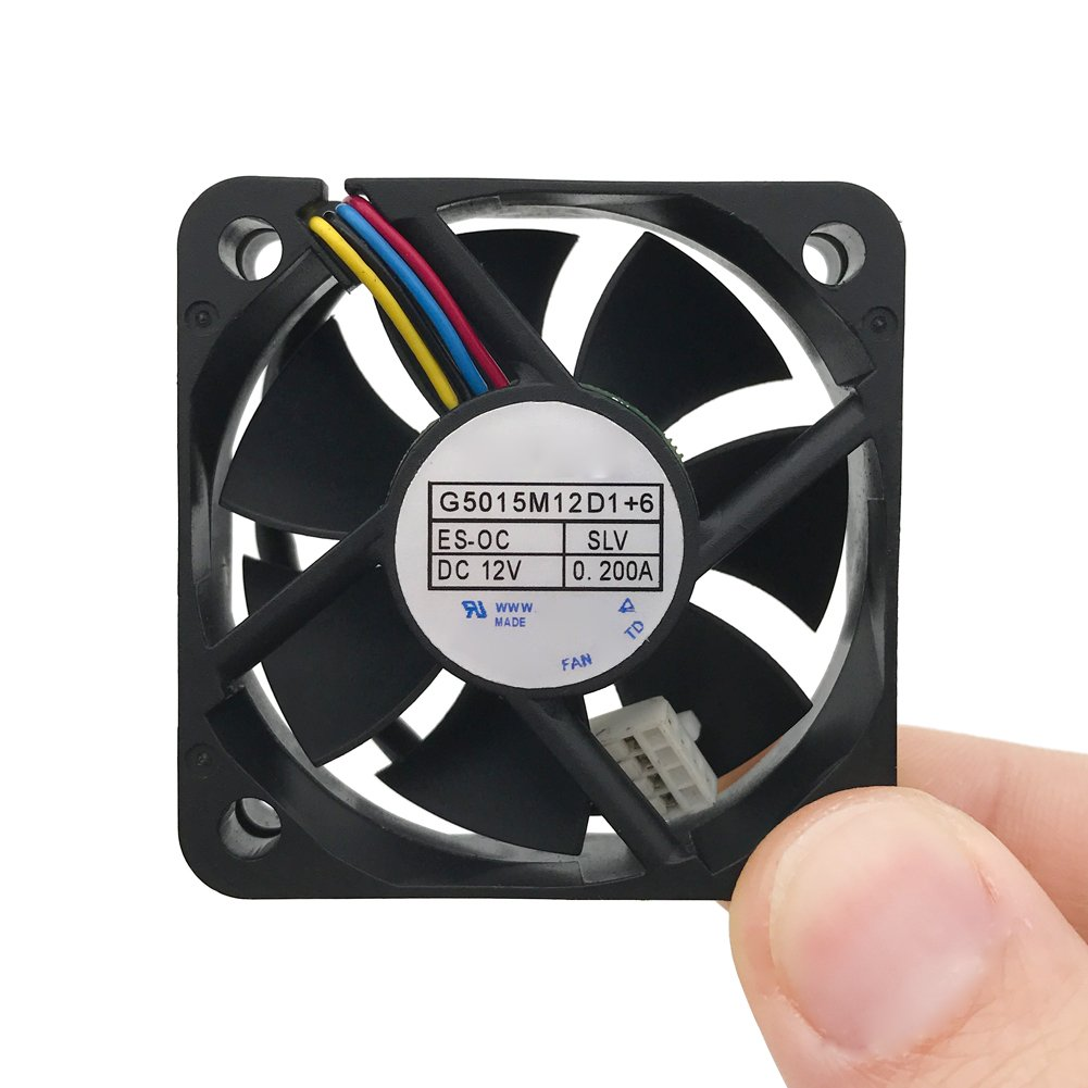 G5015M12D1+6 5cm 4line temperature control 0.2A 12V car audio cooling fan