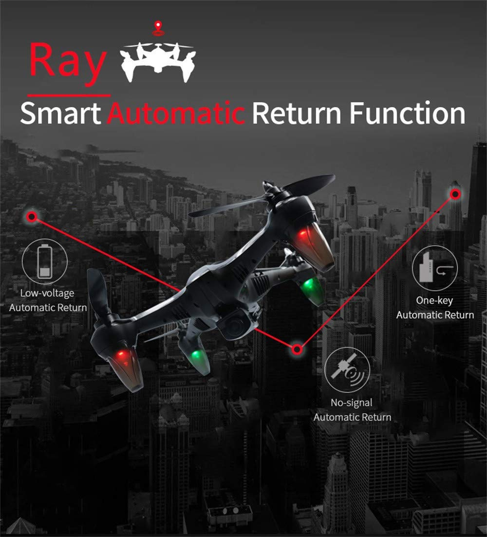 X198 RC Quadcopter / 6-Achsen-Ray 2,4 Brushless Motor/Fernbedienung 2,4 6-Achsen-Ray GHz Weitwinkel 1080 Kamera 5G WIFI Follow Me Ray (Blau) d9aa3c