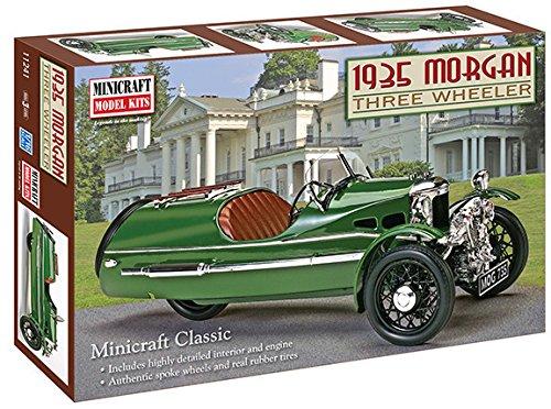 Minicraft 1935 Morgan Three-Wheeler Car, 1/16 Scale