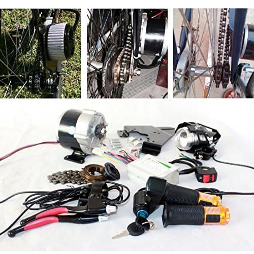 350W bicyclette électrique pièces complètes composants ebike LED lampe à lentille poignée d'accélérateur clé interrupteur indicateur de batterie levier de frein