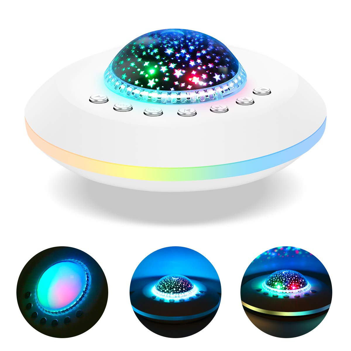 White Noise Machine, Baby Sound Machine - 20 Non-Looping Soothing Nature Sounds/Lullaby with Night Light,Timer & Memory Function-Sleep Music Machine for Kids Adults Nursery by sendcool