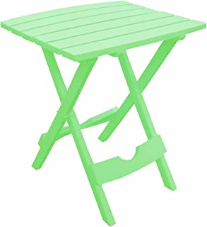 product image for Adams Manufacturing 8500-08-3700 Plastic Quik-Fold Side Table, Summer Green