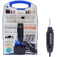 TOOL4DIY 110pcs 12V Mini Grinder Electric Rotary Tool Polishing Drilling Kit Set