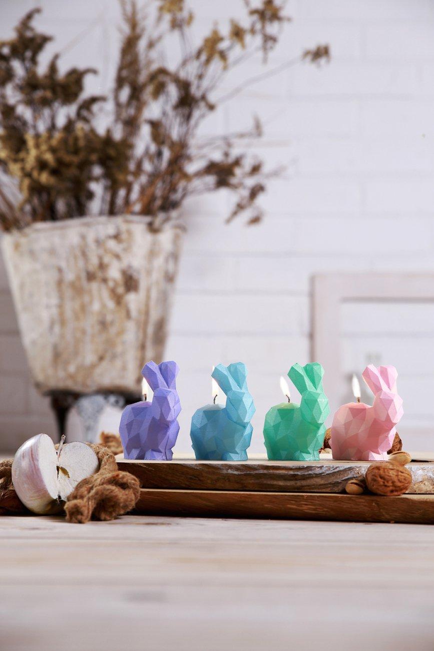 Candellana Candles 5902841369337 Bunny 4 pcs-Assorted II