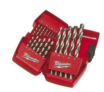 19 tlg Milwaukee HSS-G RED COBALT Edelstahl//Metall-Bohrer Set Satz 1 bis 10 mm