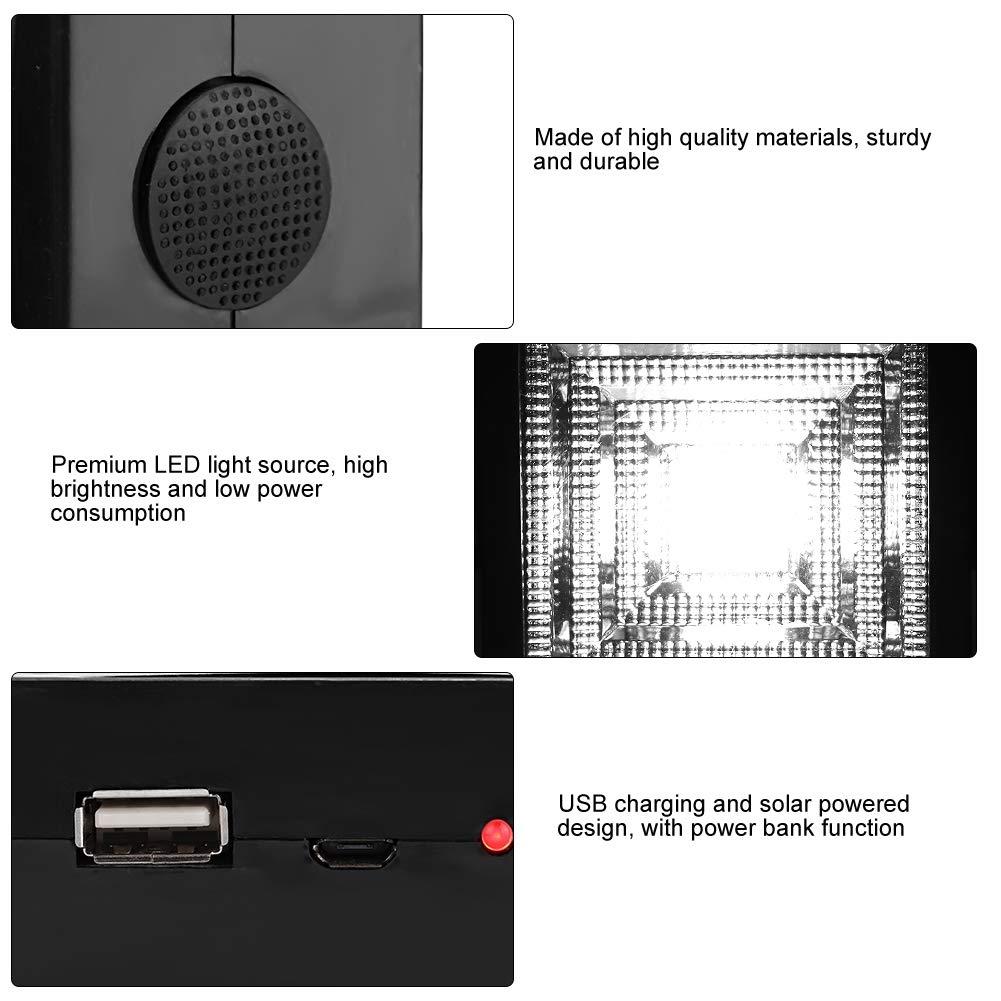 Lampe de Recharge USB Portable pour Chantier de Construction datelier de randonn/ée en Camping durgence koulate Lampe de Tente /à /énergie Solaire