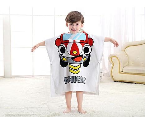 hibote Toalla de playa para bebé con capucha Poncho Kids Albornoz de algodón (Red Hat