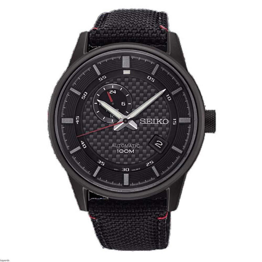 Seiko Reloj Analogico para Hombre de Automático con Correa en Nailon SSA383K1: Amazon.es: Relojes